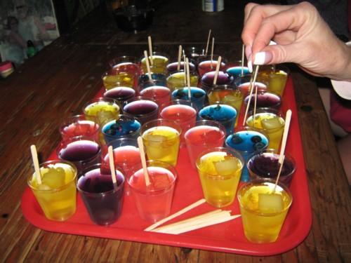 We           love the Jello shots