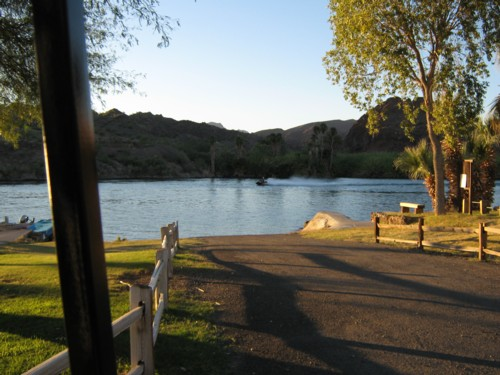 Private launch ramp at our parker rv park on the colorado river