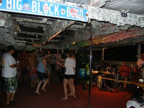 Dancing on the colorado river floating dock bar
